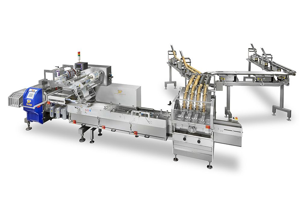 Biscuits packaging line